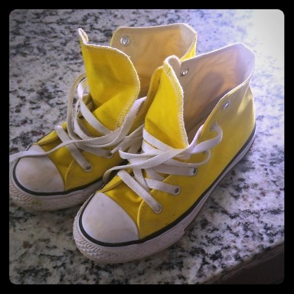 Converse Shoes | Bright Yellow Converse